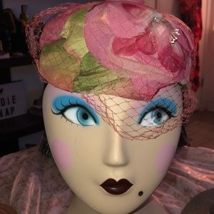 Floral petals vintage hat